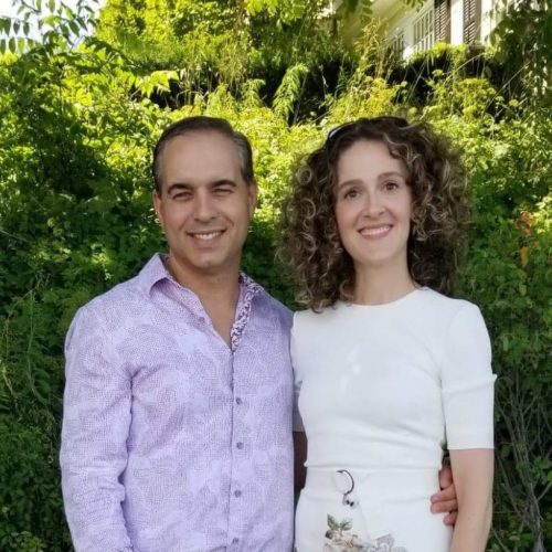 Dr Shevket and his wife